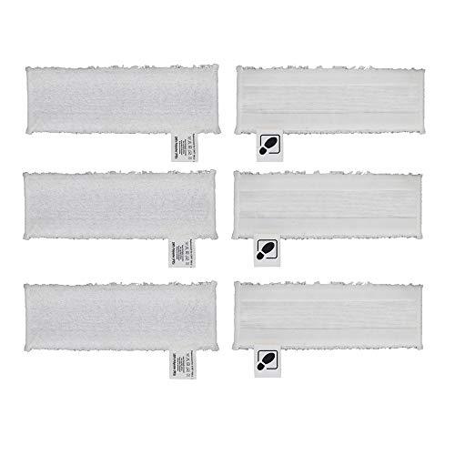DEYF 6 hochwertiges Mikrofasertuch Set EasyFix Bodentücher für Kärcher Dampfreiniger SC2, SC 3, SC4, SC5 Bodendüse 3.5€/Stück