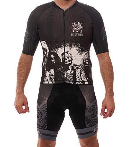 Manzur Cycling Design Conjunto Ciclismo Maillot Culotte Guns and Roses (S)