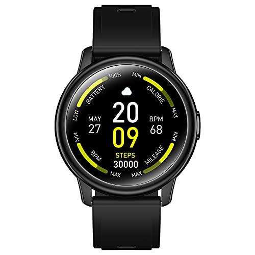 Smartwatch, 1.3  Schermo Rotondo Orologio Fitness Smartwatch Donna Uomo, IP68 Smart Watch Orologio Sportivo, Contapassi Calorie Cronometro Cardiofrequenzimetro Activity Tracker per Android iOS