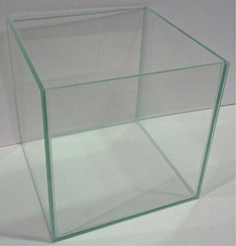 FavoPet Glasaquarium Würfel 35x35x35 cm Glasbecken Aquarium Cube ohne Streben transparent verklebt