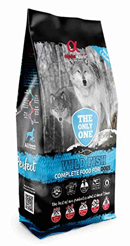 ALPHA The Only One Canine Adult Pescado 12KG, Negro, Mediano