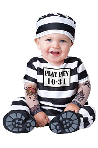 InCharacter Time Out Infant/Toddler Costume, Large (18-2T) Black/White
