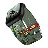 Star Wars - Boba Fett Smartwatch Band - Officially Licensed, Compatible with Apple Watch (not included) - Fits 38mm, 40mm, 42mm and 44mm