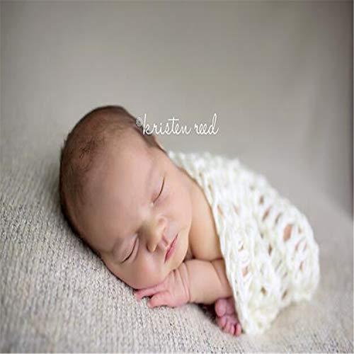 BABIFIS Manta de Lana para bebé Accesorios de fotografía Lindos, Suaves y Totalmente Hechos a Mano Trajes de Punto para Crochet para bebés