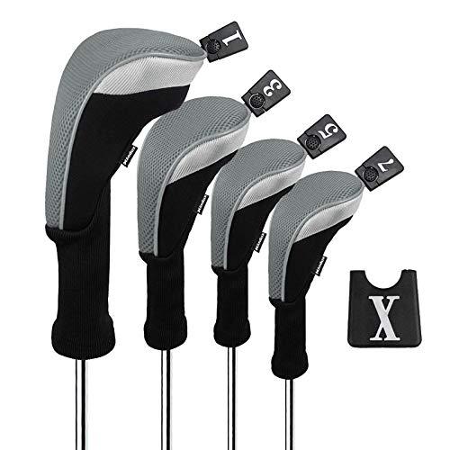 Andux Golf 460cc Fahrer Holz Kopfbedeckungen mit langem Hals und austauschbar Nr. Tags Packung mit 4