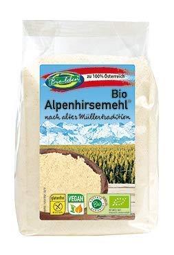 Farine de millet d'or autrichien, sans gluten, BIO 2,4kg biologique, cru sans OGM, issu de millet d'Autriche pelé, nettoyés spécialement et sans datura 6x400g