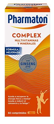Pharmaton Complex - Multivitamínico con Ginseng - 60 Comprimidos Compactos - Energía Física y Mental