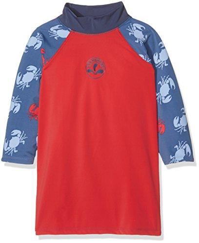 Archimède Jungen Badebekleidung Bord De Mer, Rouge (Rouge / Bleu Marine), 4 Jahre