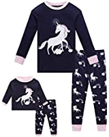 Long Sleeve Kids & Toddler Pajamas Matching Doll & Girls Pajamas 100% Cotton Unicorn Pjs Set Size 3 Fits American Girl