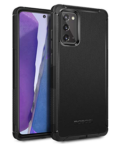 MOBOSI Compatible with Galaxy Note 20 5G Case 6.7 Inch, Excursion Series Military Grade Drop Protection Cover, Dual Layer Shockproof Dustproof Protective Phone Case, Black