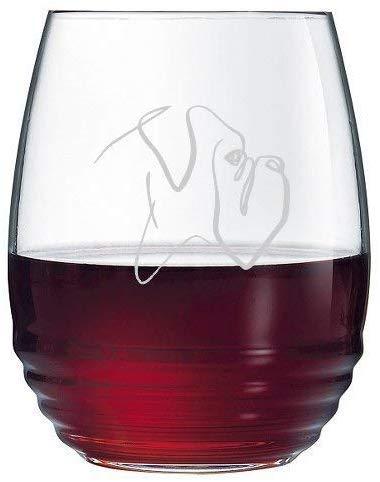 Copa de vino de vidrio con grabado profesional, para amantes de los perros, regalo de beneficios y rescate