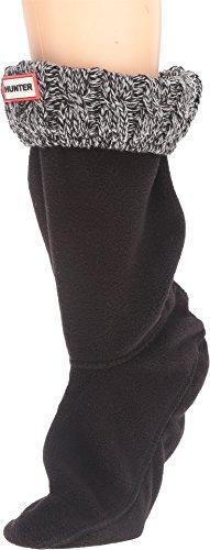 Hunter Calcetines de mujer cortos, 6 puntadas, en forma de bota. - negro - Large