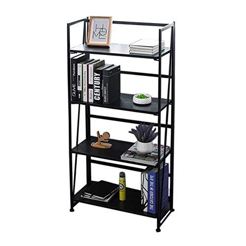 JCNFA planken opvouwbare boekenplank, staal houten planken, 4 plank boekenkast, industriële stijl, metaal en hout boekenkasten, staande opslag plank eenheden,4 kleuren