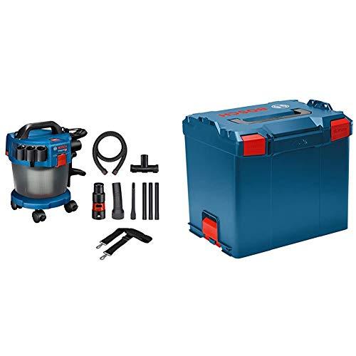 Bosch Professional 18V System Industriestaubsauger Gas 18V-10 L (1,6 m Schlauch, 3 Verlängerungsrohre) & Koffersystem L-BOXX 374 (Ladevolumen: 45,7 Liter, max. Belastung: 25 kg, Gewicht: 2,4 kg)