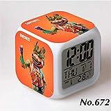 フォートナイト トマトヘッド 7色イルミネーション デジタル 目覚し時計