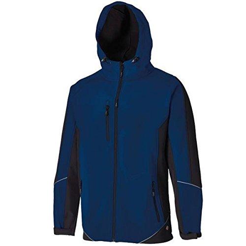 Dickies zweifarbige Softshell Jacke marineblau/schwarz NVB S, JW7010