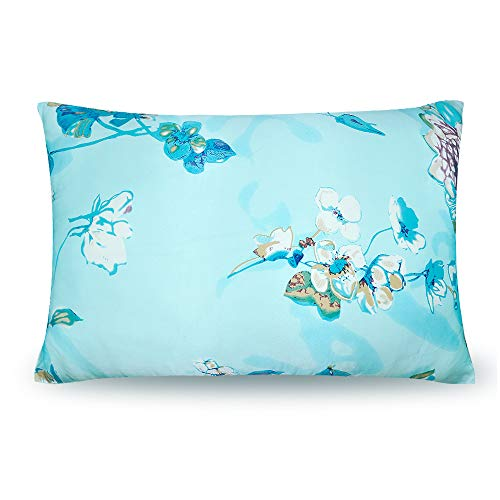 OLESILK 100% Mulberry Silk Pillowcase for Hair and Skin with Hidden Zipper and Gift Box, Magnolia Flower Printed, 50x75cm, 1pc