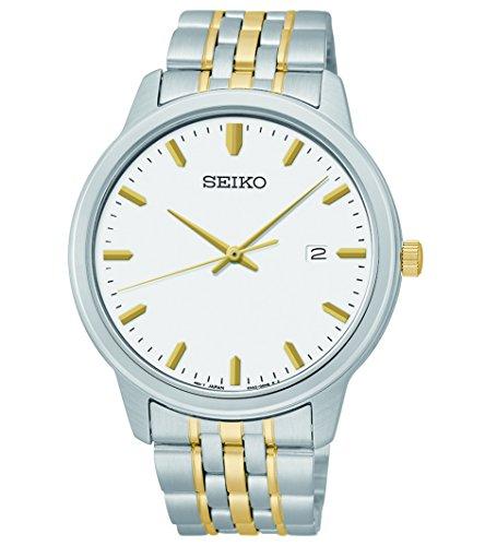 Men's  Prime Analog Quartz Two-Tone Stainless Steel Bracelet Watch - Seiko SUR094