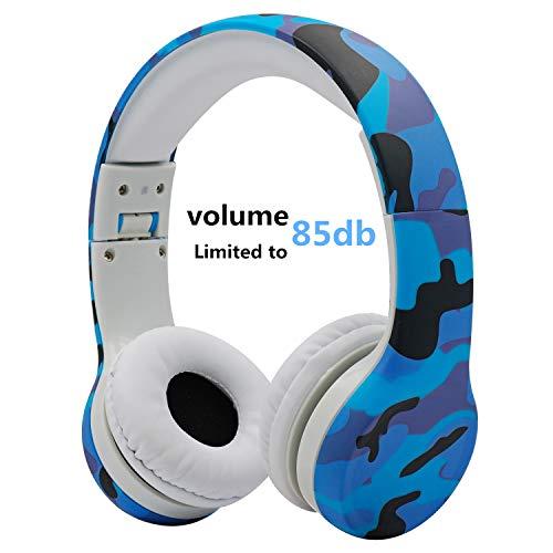 Kopfhörer Kinder, hisonic Kopfhörer für Kinder mit Laustärkebegrenzung Verstellbare Kinder Erwachsene Headset für iPod iPad iPhone Android Handy Tablet PC MP3 MP4 Player. (Tarnung)