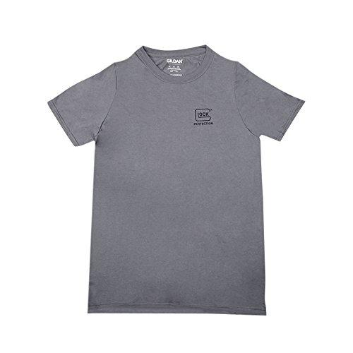 Glock Kurzarm-Shirt, Unisex-Erwachsene, OEM Performance T-Shrt Gray Sm, grau, Small