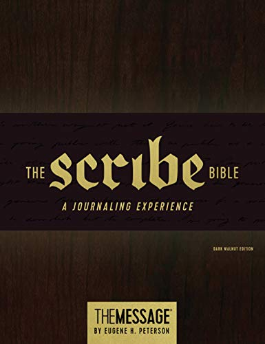 The Message Scribe Bible (Hardcover, Dark Walnut): Featuring The Message by Eugene H. Peterson