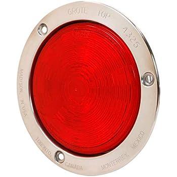 Black Flange, Male Pin Grote 54482 SuperNova 4 NexGen LED Stop Tail Turn Light
