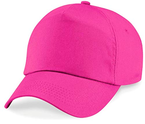 Shirtinstyle Basecap Cap 5 Panel Cap Verschluss Klettverschluss Größe Unisex, Farbe pink
