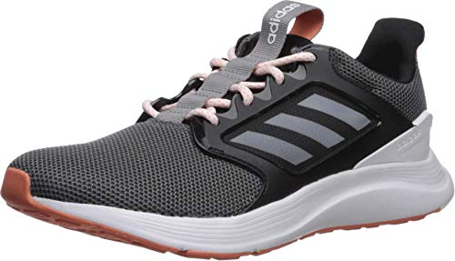 adidas womens Energyfalcon X Running Shoe, Black/White/Grey, 8.5 US