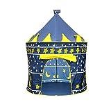 GZXYKJ Tienda de niños Princess Prince Play Tipi Portátil Tienda Plegable Infantil Niños Niños Castle Play Play House Kids Al Aire Libre Tienda Tienda Playhouse (Color : Blue)