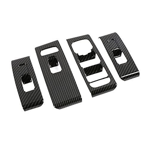 ZHANGHUA Apto para Volvo XC40 2019 2020 2021 Puerta Interior Reposabrazos Ventana Interruptor Interruptor Botón Panel Fotograma Cuadrado Color de Fibra de Carbono Plata