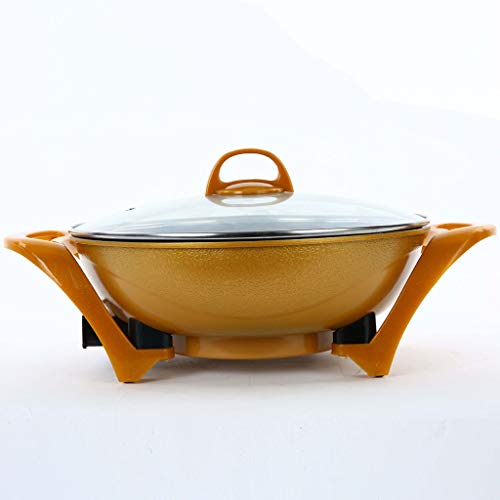 34cm Elektro Hot Pot, Multifunktions-Elektro-Herd, non-stick Smokeless Pot, elektrischen Haushalt Wok, Gold Yuan Pot, Dinner Party