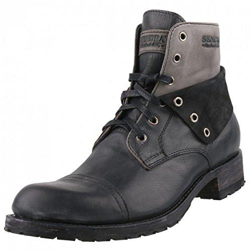 Sendra heren laarzen 11934 zwart/grijs