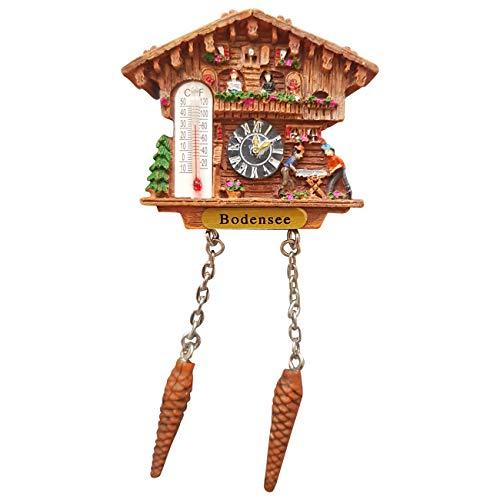 Ciffre Kuckucksuhr Magnet Polyresin Kühlschrank Wetterhaus - Bodensee | Dekoration > Uhren > Kuckucksuhren | Ciffre