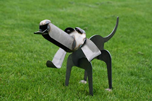 Metal Hound Dog Sculpture 24 Inches Long