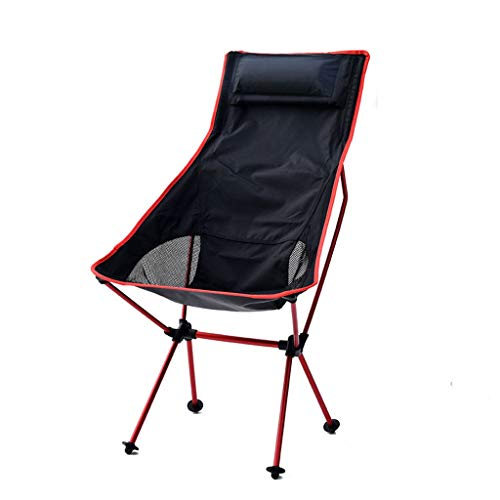 Campingstuhl for Outdoor, Essen, Hausaufgaben, Basteln, Leicht Zu Transportieren (Color : Red)