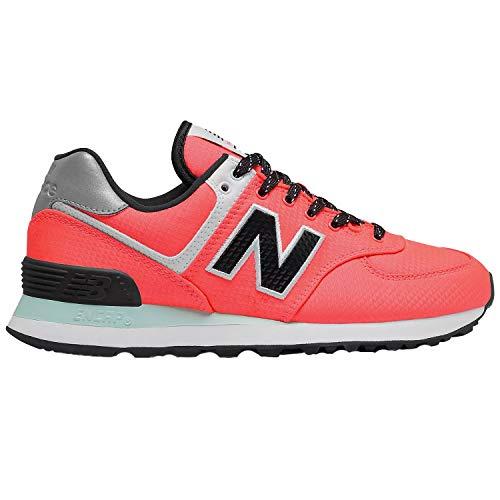 New Balance 574, Sneaker für Damen, Orange (Lebendige Koralle mit weißer Minze), 38 EU