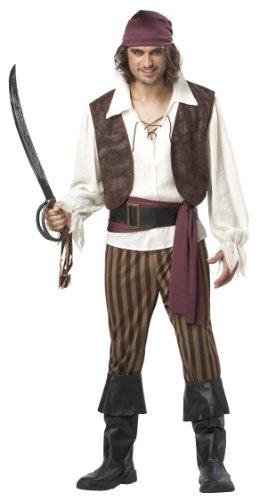 California Costumes Men's Rogue Pirate Costume, Brown, Size Medium