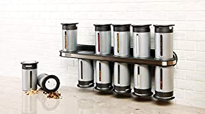 Zevro Zero Gravity Magnetic Spice Rack with 12 Canisters from Zevro
