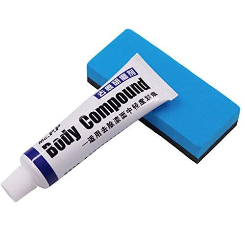 Lorenlli Car Scratch Paint Care Karosserie-Poliermittel Schleifpaste Reparatur Entferner Schleifmittel und Schwamm Set