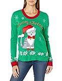 Blizzard Bay Women's Ugly Christmas Pet Sweater, Green Jingle Bells, Medium