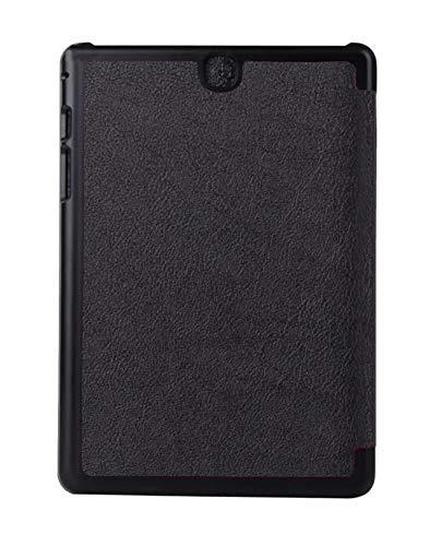 Kepuch Custer Funda para Samsung Galaxy Tab A 9.7 T550 T555C P550 P555C,Slim Smart Cover Fundas Carcasa Case Protectora de PU-Cuero para Samsung Galaxy Tab A 9.7 T550 T555C P550 P555C - Negro