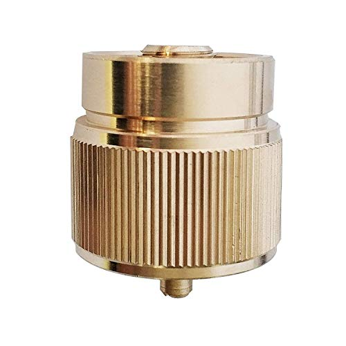 MENSI Propane Gas Camping Stove Adapter 1LB Small Tank Convert to EN417 Bottle Thread 7/16' Brass Adapter