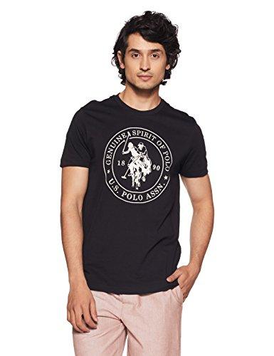 U.S. Polo Assn. Men's Solid Regular Fit T-Shirt 8907797002526 (I643-002-PL_Black_Black_XXL)