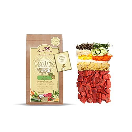 Terra Canis Canireo - Die Trockenfutter Revolution; Rind, Gemüse, Obst & Kokosmehl in 100%iger Lebensmittelqualität der Rohstoffe; 64% Frischfleisch, Getreide- & glutenfrei, 1kg Premium Hundefutter
