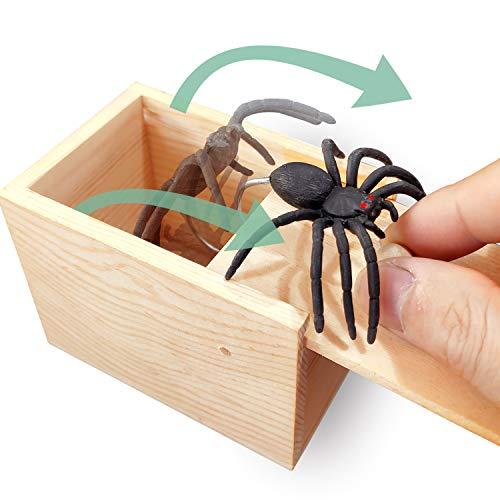 4. AHCAI Rubber Spider Prank Surprise Box