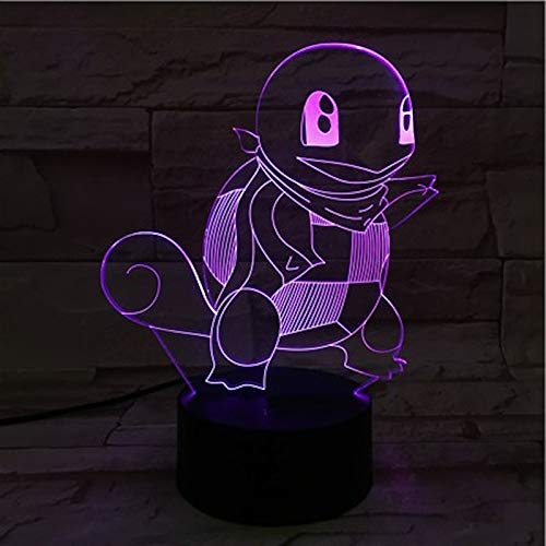 Sanzangtang Led-nachtlampje, 3D-vision-zeven, kleuren-afstandsbediening, nachtlampje, kleurverandering, slaapkamer, decoratie, nachtlampje, kindernachtlampje
