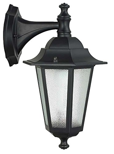 Petite lanterne berline 6 pièces avec bras 60 W aluminium noir lampe applique
