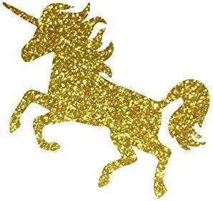 Vinyl Glitter Iron On Gold Unicorn Age Decal-DIY Iron On Patch-Vinyl Patch-Iron On Transfer-DIY Heat Transfer Image