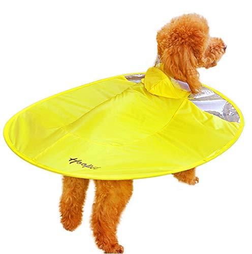YST Impermeable Transparente para Perro Mascota Impermeable para Perros UFO Impermeable para Mascotas Ropa para Perros día lluvioso Impermeable Azul Amarillo Especial,Amarillo,L
