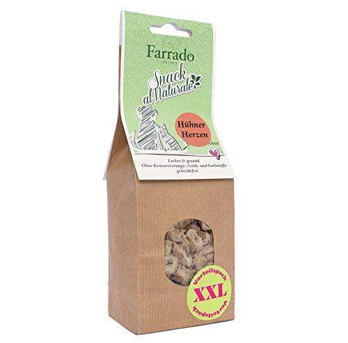 Farrado | Freeze Dried gefriergetrockneter Snack Katzen | 100% Hühnerherzen, Straußenleber, Hühnermagen, Lammlunge | getreidefrei + natürlich + artgerecht (Hühnerherzen, 90g)